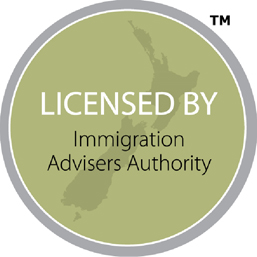 Licensed by the Immigration Advisory Authority in New Zealand